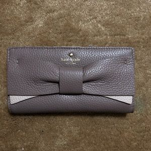 Kate spade lavender wallet with bow